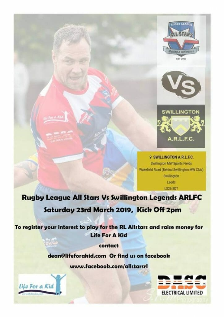 Life for a Kid Rugby league Event